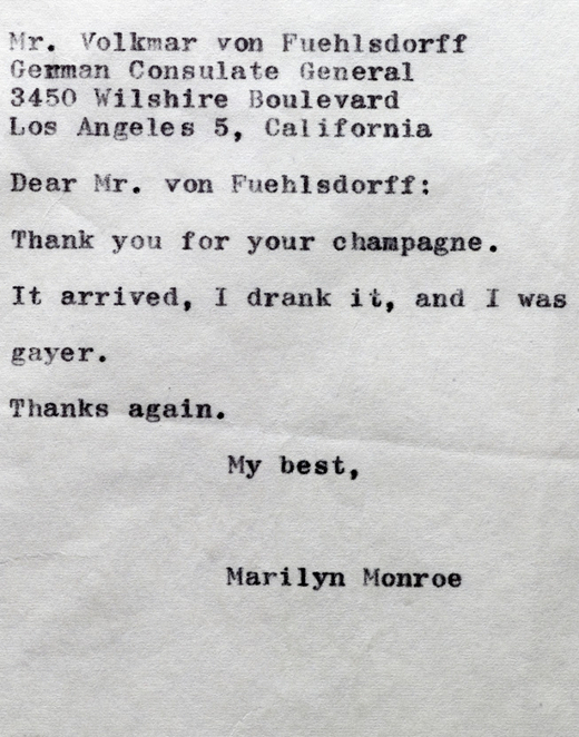 Thank you Marilyn Monroe